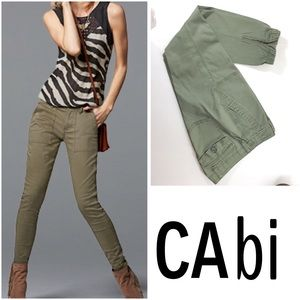 CAbi Olive Green Scout Pants SZ 2.